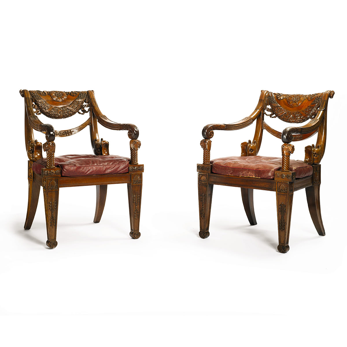 George IV Mahogany Armchairs from Hamilton Palace